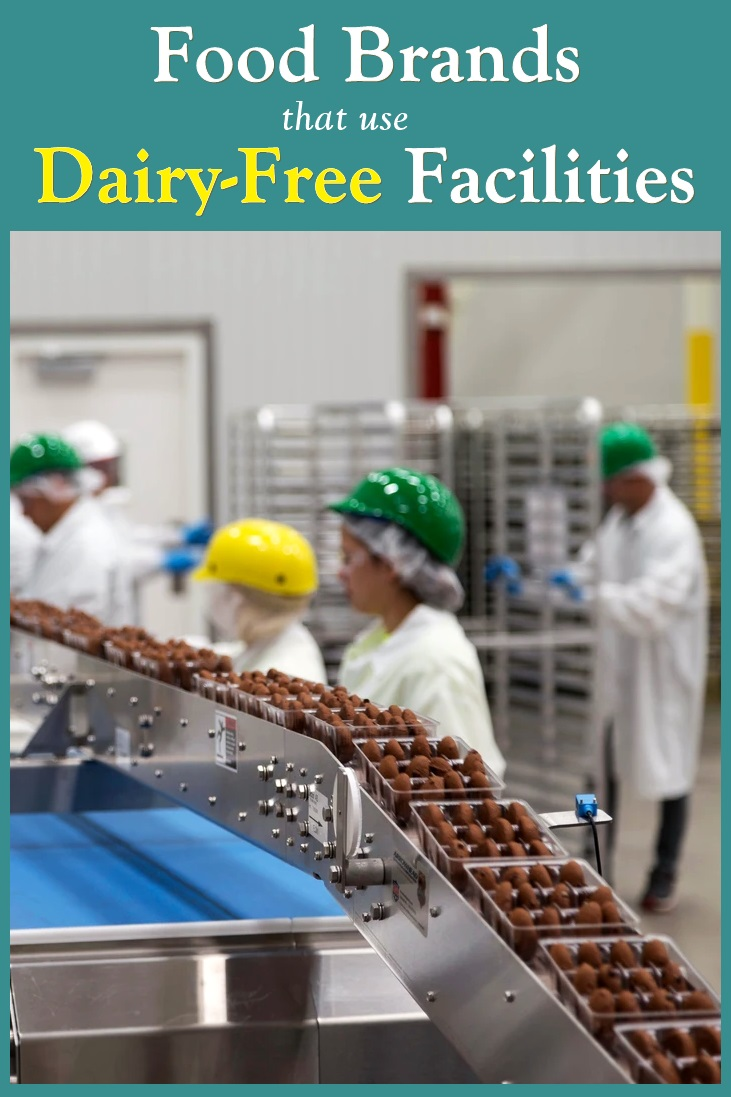 Over 60 Food Brands that use Dairy-Free Production Facilities - what they make, where they're sold, how they run their facility ...