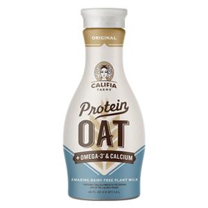 Califia Farms Protein Oat Milk Reviews and Information - dairy-free, nut-free, soy-free, and 8 grams of protein. Calcium fortified.