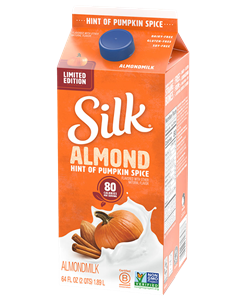 Silk Almondmilk Reviews and Information - So many varieties of dairy-free, soy-free, and vegan milk beverages! Pictured: Seasonal Hint of Pumpkin Spice