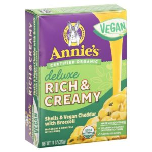 Annie's Vegan Deluxe Rich and Creamy Mac and Cheese (Macaroni & Sauce) Reviews and Information