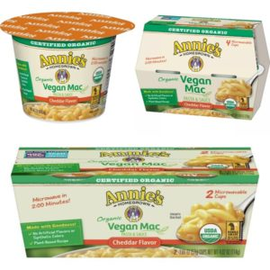 Annie's Vegan Microwave Mac & Cheese Cups Reviews and Information (dairy-free, nut-free, soy-free)