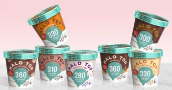 Halo Top Dairy-Free Frozen Dessert - vegan, soy-free and many gluten-free ice cream pint flavors that are low calorie, low sugar, and high protein.