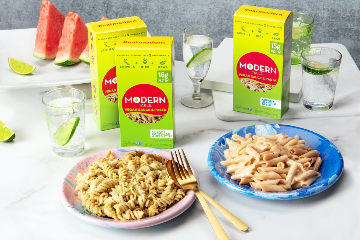 Modern Table Vegan Sauce & Pasta Meals in Alfredo and Creamy Parmesan Reviews & Info - dairy-free, gluten-free, high protein, low glycemic