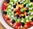 Paleo Fruit Tart Recipe with Dairy-Free Custard and Grain-Free Cookie Crust - gluten-free, refined sugar-free, dairy-free