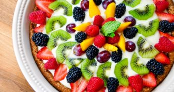 Paleo Fruit Tart Recipe with Dairy-Free Custard and Grain-Free Cookie Crust - gluten-free, refined sugar-free, dairy-free