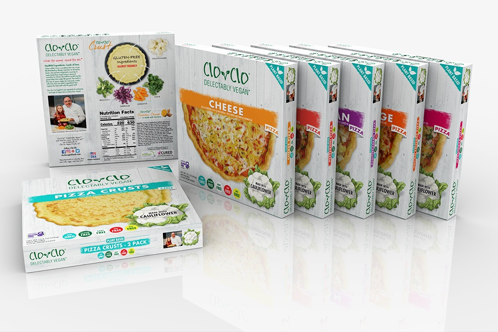 Clo Clo Frozen Pizzas Reviews and Info - Delectably Vegan, Plant-Based, Gluten-Free, and Top Allergen-Free! Available in several varieties. Pictured: All