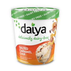 Daiya Dairy-Free Ice Cream Pints Reviews and Info - Vegan, Gluten-Free, Nut-Free, Soy-Free and made with Rich, Churned, Coconut Cream. Pictured: Salted Caramel Chip