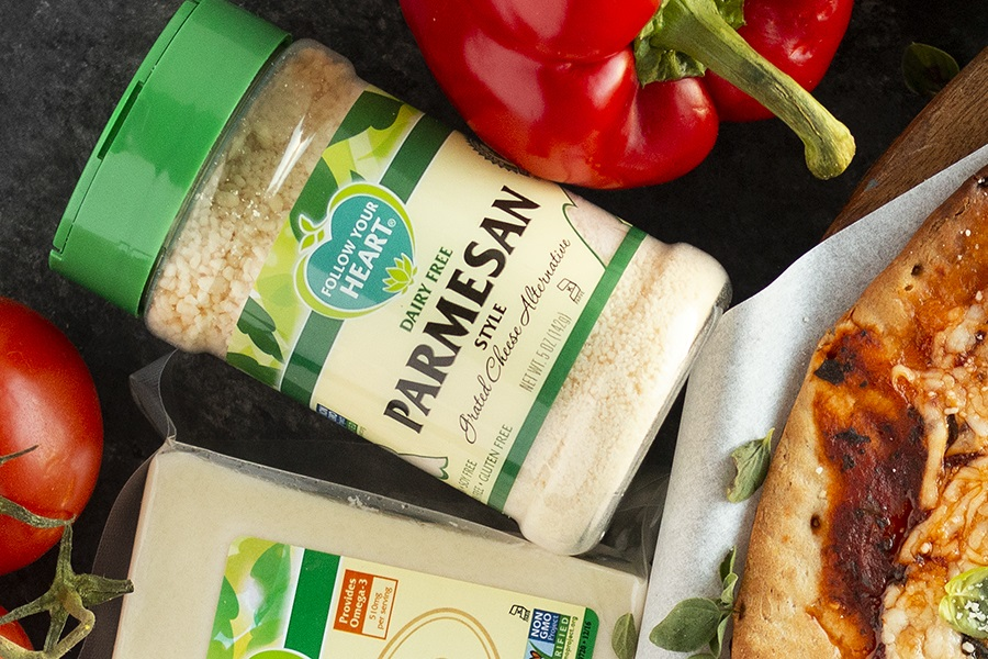 Follow Your Heart Dairy-Free Parmesan Reviews and Information - both Grated and Shredded Varieties. Vegan, gluten-free, and top allergen-free.