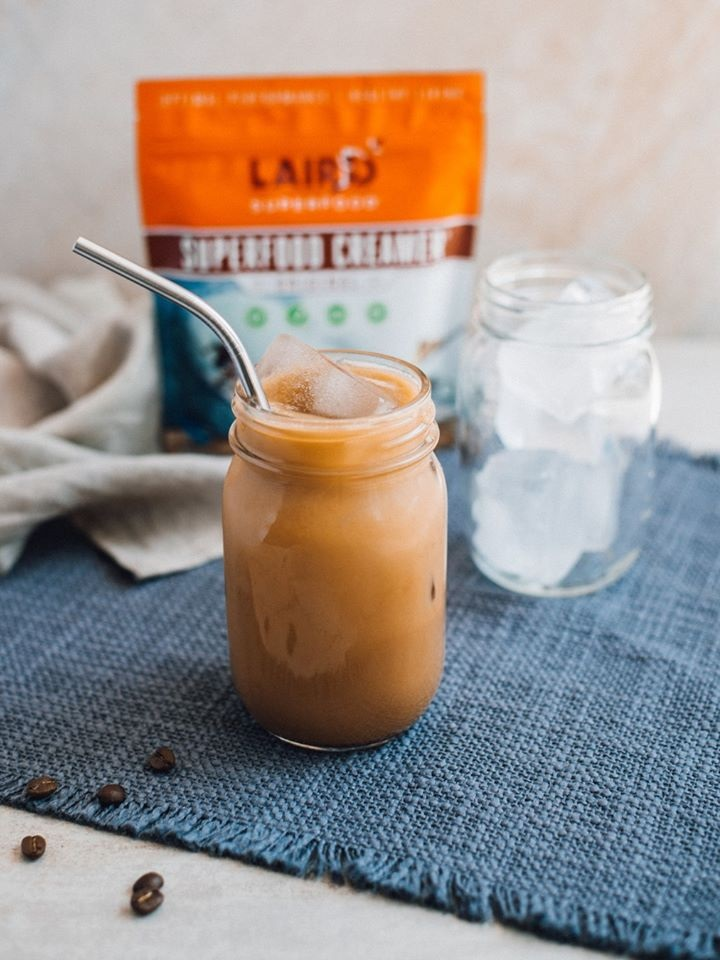 Laird Superfood Creamer Reviews and Info - Dairy-Free, Plant-Based, Paleo, Natural, Healthy Powdered Creamers in 8 Flavors plus Singles. PIctured: Original