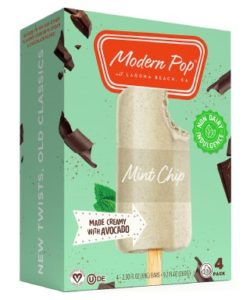 Modern Pop Dairy-Free Ice Cream Bars made with Avocado. Reviews and Information. Pictured: Mint Trip