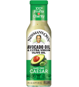 Newman's Own Avocado Oil Dressings Reviews and Info - Creamy Dairy-Free Salad Dressings in Ranch, Greek, and Caesar. Also gluten-free, sugar-free, nut-free, soy-free, paleo, and keto.