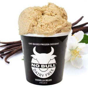 No Bull Ice Cream (Dairy-Free and Vegan) Reviews and Information - comes in 8 oat milk-based flavors. Pictured: Vanilla Bean