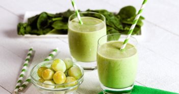 "Dairy-Free Green Smoothie Recipe that's packed with 5 Fruits and Vegetables - great for kids and adults, any day, as a Halloween ""green slime"" smoothie, or even for St. Patrick's Day"