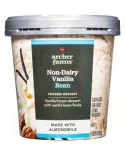 Archer Farms Non-Dairy Ice Cream Reviews and Info - Target brand of dairy-free and vegan frozen dessert in 7 indulgent, dessert-forward flavors. Pictured: vanilla bean