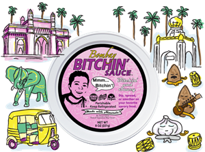 Bitchin' Sauce Reviews and Information - Dairy-Free, Plant-Based, Keto-Friendly - almond-based dip, spread, or sauce in several all-natural flavors. Pictured: Bombay
