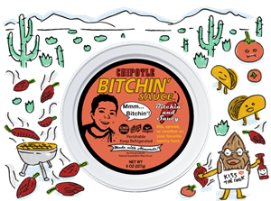 Bitchin' Sauce Reviews and Information - Dairy-Free, Plant-Based, Keto-Friendly - almond-based dip, spread, or sauce in several all-natural flavors. Pictured: Chipotle