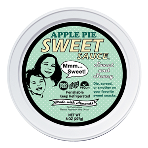 Sweet Sauce from Bitchin' Sauce - Reviews and Info - Dairy-Free, Soy-Free, Vegan, and Plant-Based. Pictured: Apple Pie