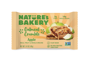Nature's Bakery Oatmeal Crumble Bars Reviews and Info. Dairy-free, nut-free, soy-free, vegan breakfast bars. Pictured: Apple