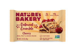 Nature's Bakery Oatmeal Crumble Bars Reviews and Info. Dairy-free, nut-free, soy-free, vegan breakfast bars. Pictured: Cherry