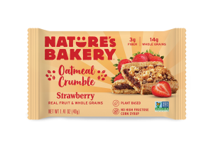 Nature's Bakery Oatmeal Crumble Bars Reviews and Info. Dairy-free, nut-free, soy-free, vegan breakfast bars. Pictured: Strawberry