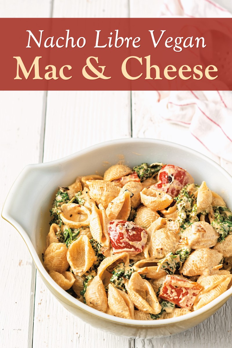 Nacho Plant-Based Mac and Cheese Recipe - dairy-free, soy-free, vegan-friendly, and healthy! A sample recipe from the cookbook Vegan Buddha Bowls. Photo by Jackie Sobon.
