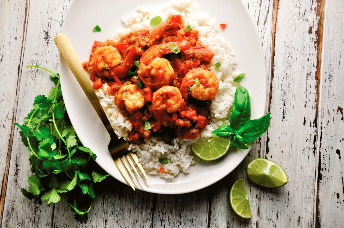 Coconut Curry Shrimp Rice Bowl Recipe - dairy-free, gluten-free, soy-free - from Always Eat After 7pm - a diet and health book by Joel Marion