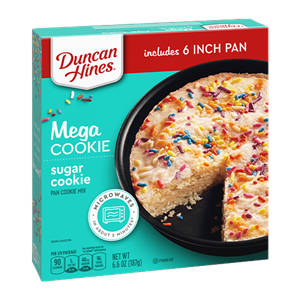 Duncan Hines Mega Cookies Reviews and Info - All dairy-free and kosher pareve. Four Varieties: Chocolate Chunk, Double Chocolate Chunk, Sugar with Sprinkles, and Oatmeal Chocolate Chip