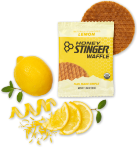 Honey Stinger Waffles Reviews and Info - Dairy-Free, Organic Energy Waffles, Mini Waffles, and Gluten-Free Waffles. Pictured: Lemon Energy
