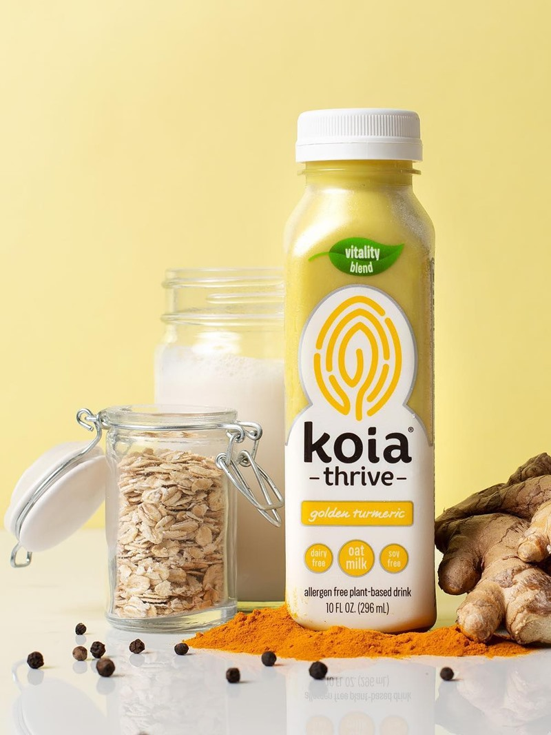 Koia Thrive Oat Milk Drinks - dairy-free, gluten-free, nut-free, soy-free, vegan, and plant-based with adaptogenic herbs