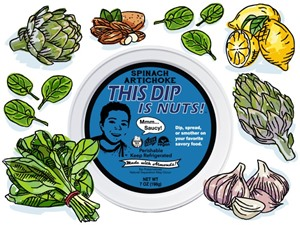 This Dip is Nuts Reviews and Info - Dairy-free, Soy-free, Keto, Paleo, Vegan, and Organic! Comes in four varieties. Pictured: Spinach Artichoke