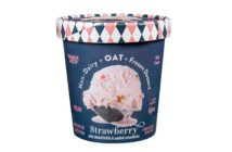 Trader Joe's Non-Dairy Oat Frozen Dessert - Dairy-Free Oat Milk Ice Cream in One Vegan Flavor: Strawberry with Candied Strawberries & Almond Brittle