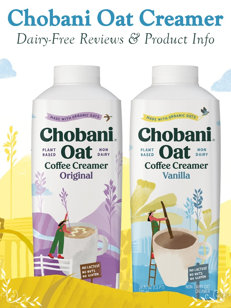Chobani Oat Coffee Creamer Reviews and Info - Dairy-free, soy-free, nut-free, no gluten, and vegan.