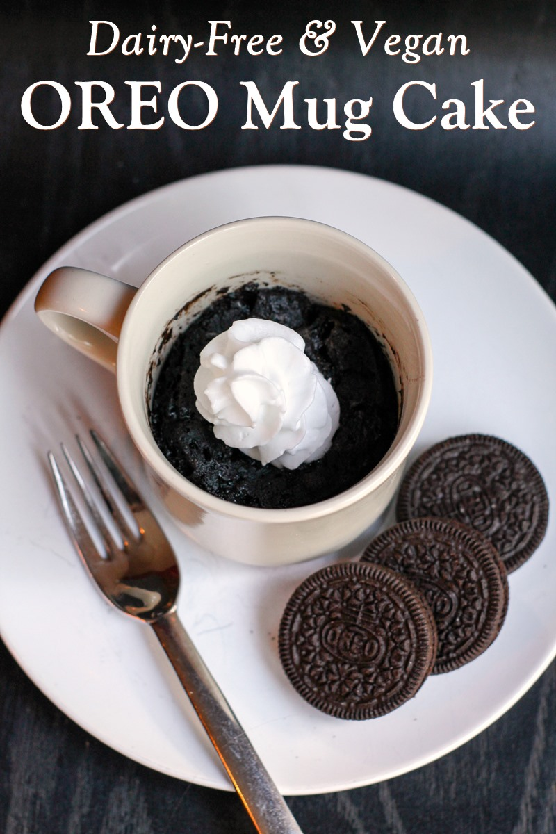 Dairy Free Oreo Mug Cake Recipe 3 Ingredients 5 Minutes