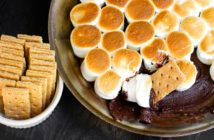 Dairy-Free S'mores Dip Recipe - Easy, Indoor, Oven Dessert that Kids Can Cook. Vegan, gluten-free options.