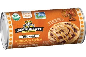 Immaculate Baking Cinnamon Rolls Reviews and Info - dairy-free, egg-free, soy-free, nut-free, vegan, and available in Original and seasonal Pumpkin Spice