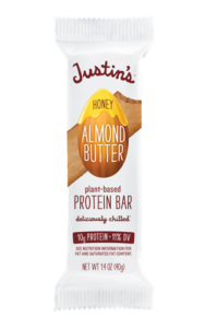 Justin's Almond Butter Protein Bars Reviews and Info - dairy-free, gluten-free, low sugar, and refrigerated for freshness!