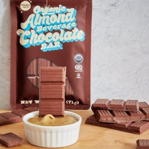 Trader Joe's Organic Almond Beverage Chocolate Bar Reviews and Info - dairy-free, gluten-free, soy-free, vegan, kosher pareve milk chocolate alternative