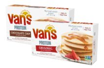 Van's Protein Pancakes Reviews and Info - Dairy-free, Plant-based, Egg-free, and Vegan! 9 to 10 grams of protein per serving.