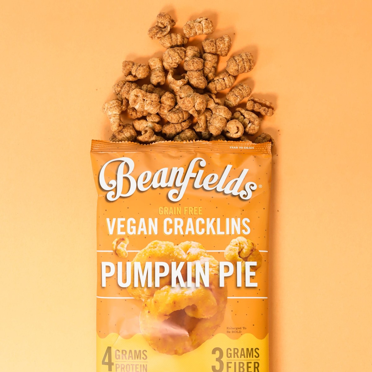 Over 60 Dairy-Free Pumpkin Spice Sweets, Snacks, and More! Pictured: Beanfields Pumpkin Pie Cracklins