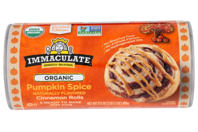 Over 60 Dairy-Free Pumpkin Spice Sweets, Snacks, and More! Pictured: Immaculate Baking Company Pumpkin Spice Cinnamon Rolls