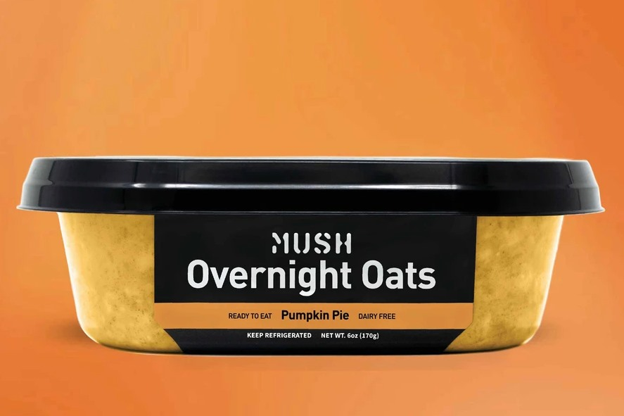 Over 60 Dairy-Free Pumpkin Spice Sweets, Snacks, and More! Pictured: Mush Pumpkin Pie Overnight Oats