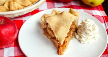 Dairy-Free Double Crust Apple Pie Recipe - two family favorites in one. A classic dessert that's also nut-free, soy-free, and vegan-friendly.