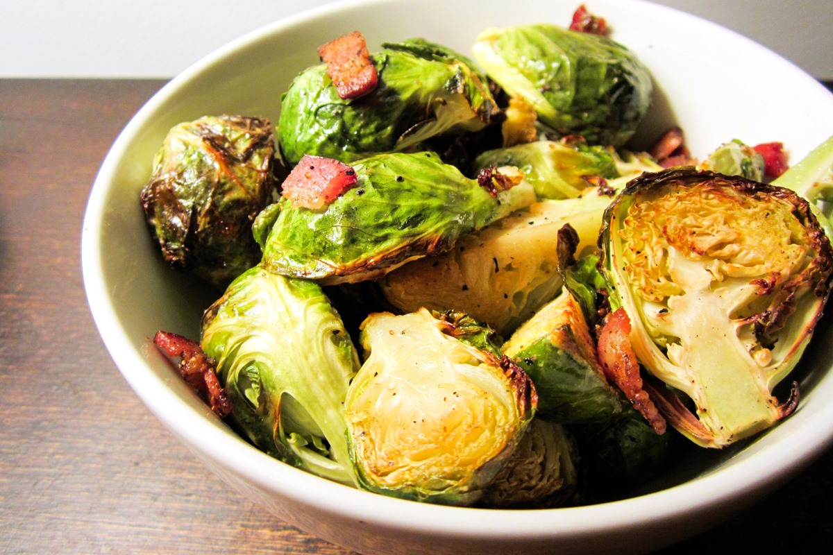 Bacon Roasted Brussels Sprouts Recipe - How to get anyone to love Brussels sprouts! Naturally gluten-free, dairy-free, allergy-friendly.