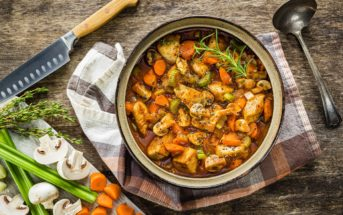 Kid-Friendly, Dairy-Free Coq Au Vin Recipe - this family-friendly version is alcohol-free, and inspired by the movie Ratatouille. Includes gluten-free option.