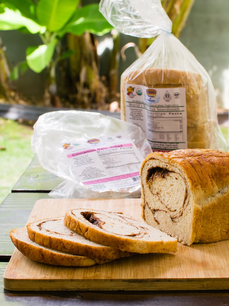Organic Bread of Heaven Sliced Bread in Over a Dozen Varieties. Dairy-Free, Vegan, Nut-Free, Kosher Pareve Bakery. Sourdough, Sprouted, Cinnamon Swirl, and More.