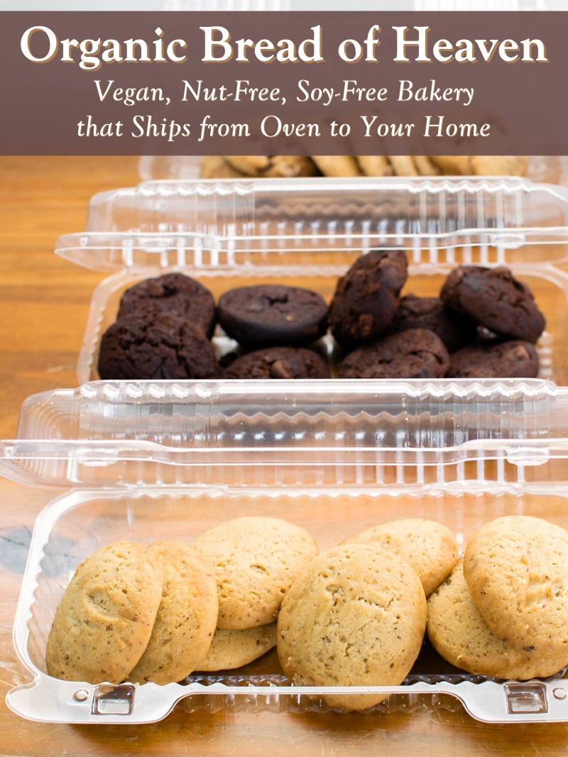 Organic Bread of Heaven Vegan Cookies - Traditional and Maple Sweetened (pictured) Varieties. Bakery is Kosher Pareve, Nut-Free, Soy-Free, Sesame-Free, Additive-Free, and Ships Oven-Fresh Baked Goods Nationwide