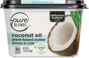 Pure Blends Plant-Based Butter Reviews and Info - dairy-free, vegan light buttery spreads made with avocado oil or coconut oil.