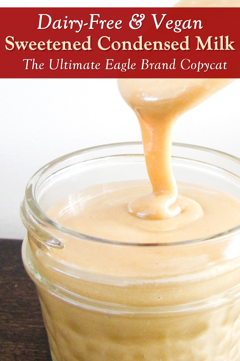 The Best Dairy-Free Sweetened Condensed Milk Recipe - Vegan Copycat for Borden's Eagle Brand. Great in Recipes!