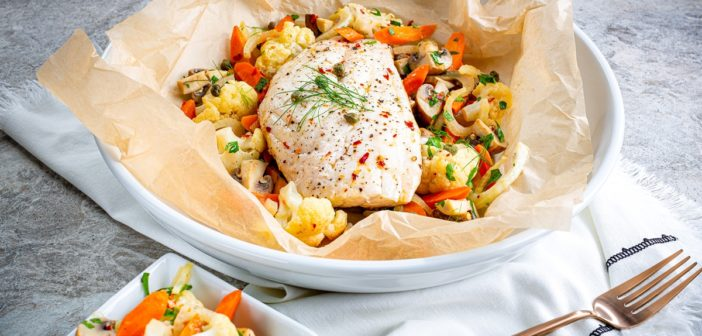 Parisienne Snapper with Vegetables is Deliciously Simple Fish En Papillote