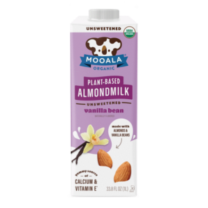 Mooala Almondmilk Reviews and Info - Organic, Dairy-Free Milk Beverages made with Clean Ingredients, and sold in several flavors - some non-perishable, some refrigerated